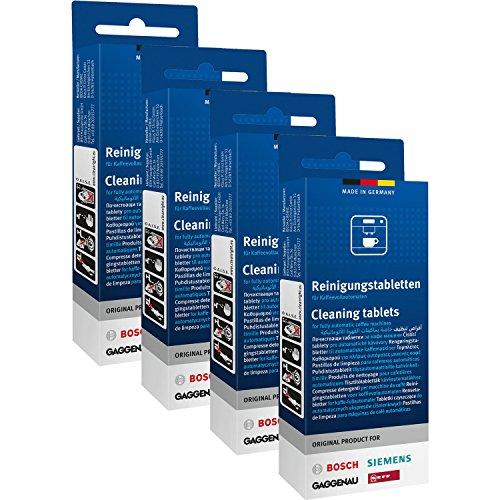 4x Bosch TCZ6001 Reinigungstabletten für Kaffee Vollautomaten TCA 5, TCA 6...