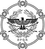 NGK Trading The Roman Empire - Aquila Eagle SPQR Emblem Vinyl Decal Bumper Sticker Wall Laptop Window Sticker 5'