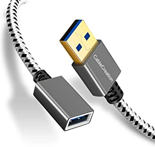 小さくてコンパクト USB 3.0延長ケーブル、CableCreation USB 3.0 A(オス)–.。