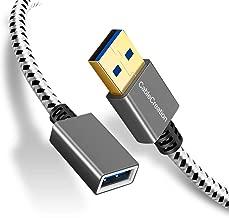 USB 3.0延長ケーブル,CableCreation USB 3.0 A(オス) - (メス)延長ケーブル USB 3.0延長コード Oculus VR、プレイステーション、Xbox、キーボード、プリンタ、スキャナーなど対応 スペースグレー 0.3m