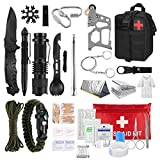 Emergency Kit Survival Gear and Equipment, 85 in 1 Outdoor Gear, Emergency Camping Hiking Hunting Fishing Adventures for Men dad Husband Father boy Friend (Black)