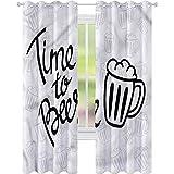 jinguizi Cortina opaca para ventana de hombre, cueva, hora de la cerveza, con...