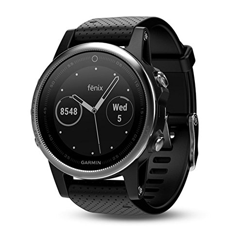 Best Price! Garmin fēnix 5s, Premium and Rugged Smaller-Sized Multisport GPS Smartwatch, Silver/Bla...