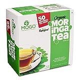 Original Organic Moringa Tea (50 Single Tea envelope bags).Immunity,Energy & Mood Booster.Antioxidants & Flavonoids Rich,Stress Relief,Delicious