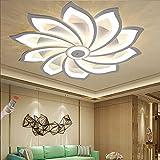 Luz de techo LED Lámpara de sala de estar moderna Lámpara de techo regulable Flor Iluminación creativa con control remoto Luz de techo Comedor interior Dormitorio Cocina Lámparas de araña,10 heads