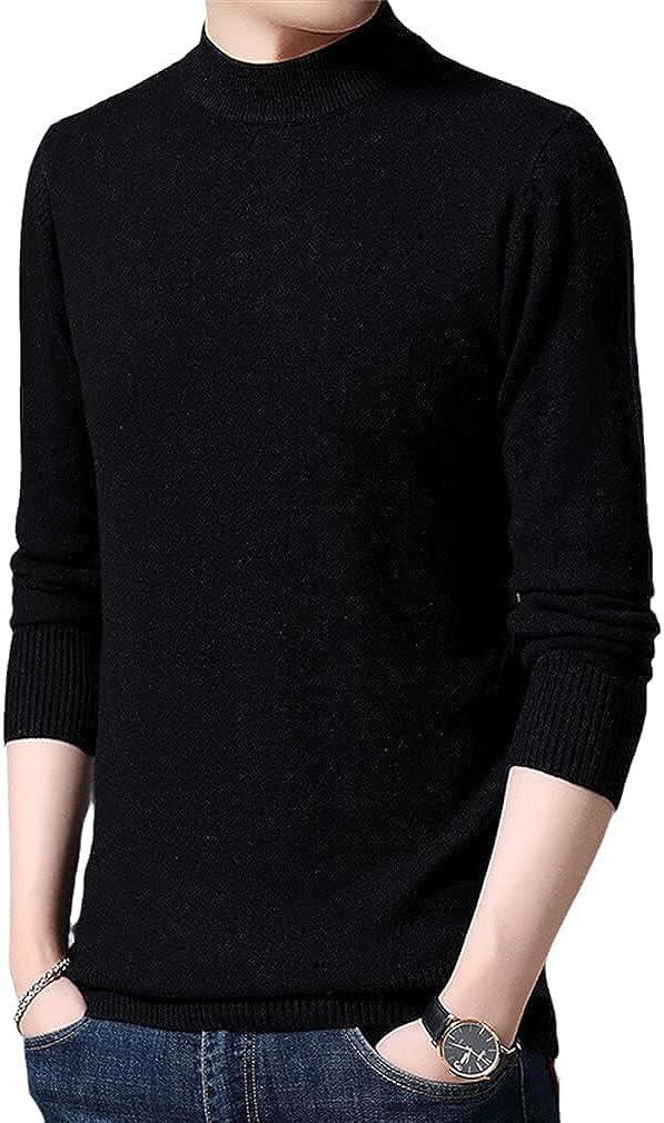 Special price Rare GYSAFJ Mens Pullovers Half Turtleneck Jumpers Fit Knitwear Slim