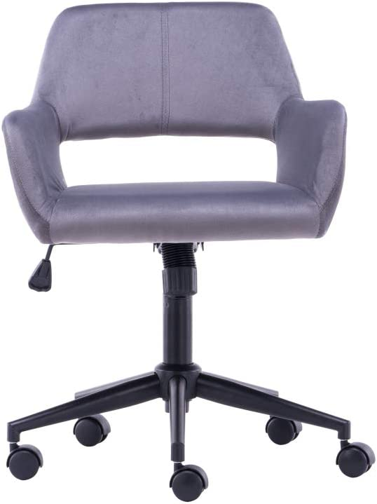 LIZHOUMIL Home Office Max discount 77% OFF Chair with Velvet Upholstered Height-Adju