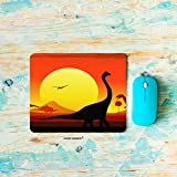 HGOD DESIGNS Dinosaur Gaming Mouse Pad,Cartoon African Dinosaur Walking in The Sunset Mousepad Rectangle Non-Slip Rubber Mouse Pads(7.9'X9.5')