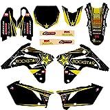 For Suzuki RMZ RMZ450 RMZ 450 2007 Antecedentes equipo gráfico de la estrella de la etiqueta y etiqueta engomada de la motocicleta Kit Pit Dirt Bike Pegatinas Calcomanías