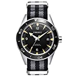 Corgeut Automatic Watches for Men, Nylon Strap Stainless Steel Wrist Watch with Date, Japanese Movement, Sapphire Crystal