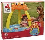 Jilong Crab Pool Ø100x95cm Kinderpool aufblasbarer Boden Planschbecken mit Sonnenschutz Schwimmbad