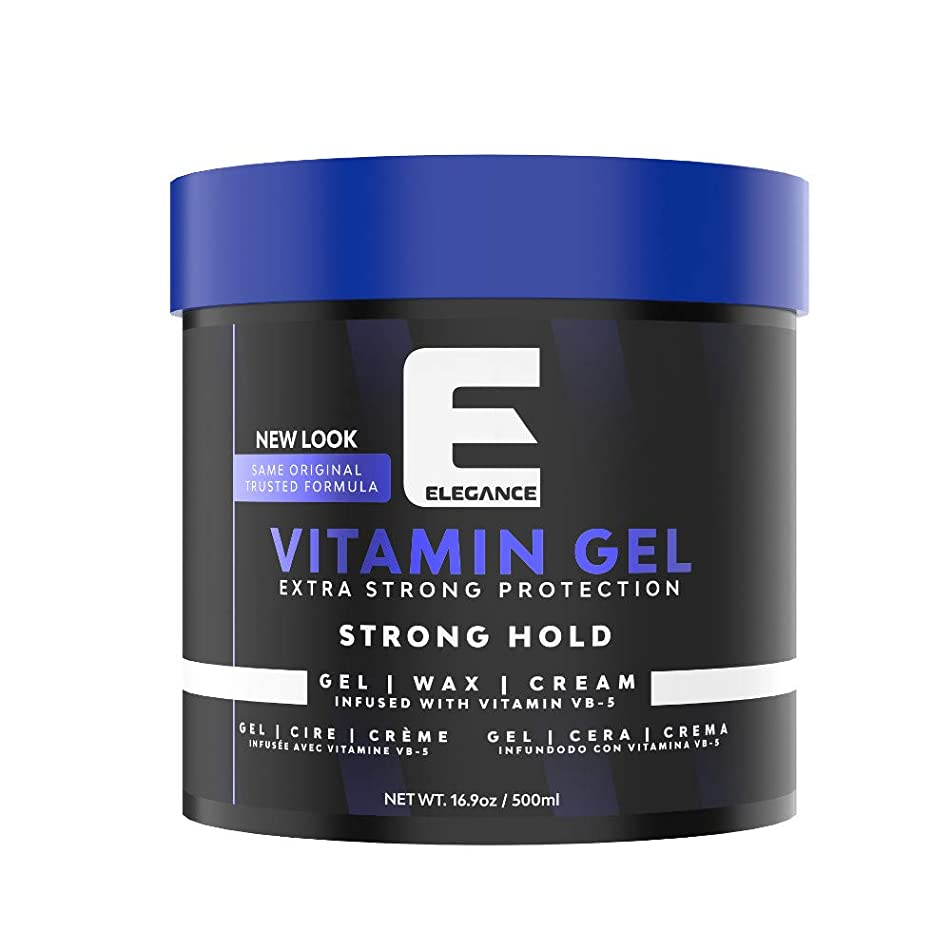 ELEGANCE GEL Extra Strong Protection Medium Hold Hair Gel, 16.9 Oz