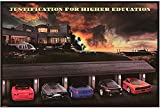 Classic Sports Car Art Poster Justification For Higher Education Kuche & Haushalt Reprinted 36' X 24' Horizontal