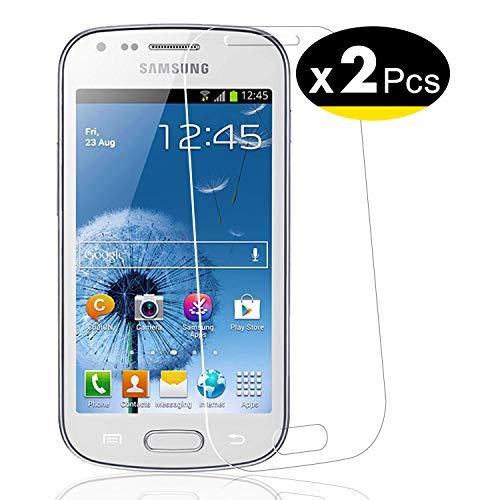NEW'C 2 Unidades, Protector de Pantalla para Samsung Galaxy Trend, Antiarañazos, Antihuellas, Sin Burbujas, Dureza 9H, 0.33 mm Ultra Transparente, Vidrio Templado Ultra Resistente