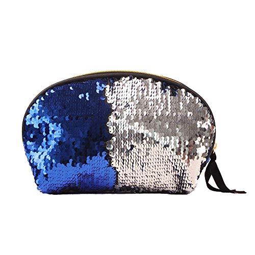 JoyRolly Cosmétique Sac Deux-Couleur Paillettes Shell Forme Cosmétique Sac Multi-Fonction Trousse De Toilette Maquillage Organisateur Portable Voyage Kit Organisateur (1 Pack) Style-5