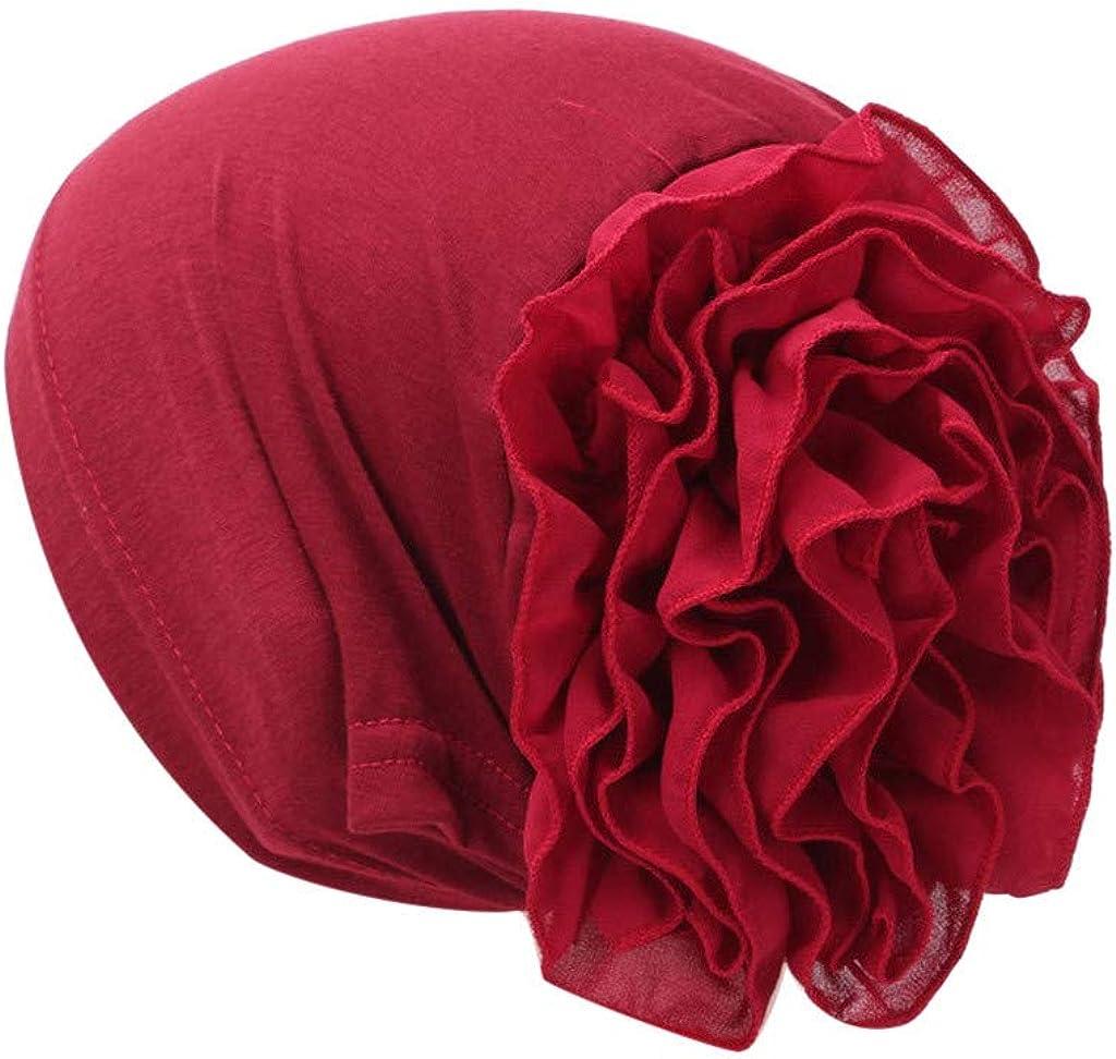 YYCHUN Summer Womens Beanies Hat Twist Muslim Turban Cap with Flowers Prints Sleeping Headwrap Chemo Cap for Hair Loss