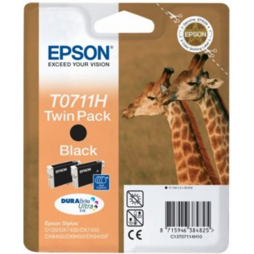 Epson c13t071140h10cartucho de tinta Negro Para Epson Stylus BX 310/600/D 120/Office B 1100/40W/SX 415