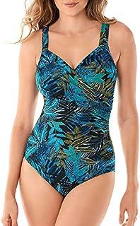 One piece swimsuit, women's swimsuit, one 5-piece set 5XL Green