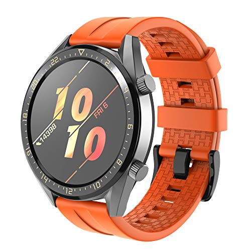 Correa para Huawei Watch GT 2/Huawei Watch GT Fashion/Sport/Active/Elegant/Classic,22mm Pulsera de Repuesto de Silicona Banda Ajustable