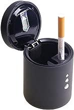 Silver Auto Aschenbecher Schale mit LED Licht Black HshDUti Tragbarer Auto LKW Zigarettenrauch Aschen Halter