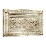 Cuadro oriental decorativo árabe – 90 x 60 cm y 120 x 80 cm – Impresión sobre lienzo de alta resolución – Lienzo estirado sobre un marco de madera, 120 x 80 cm