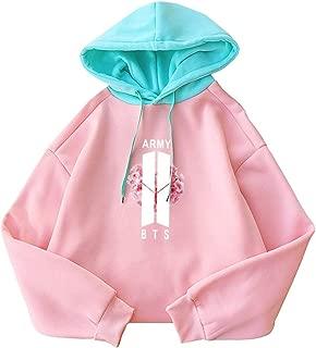 Fashionoly Harajuku Women Hoodie Causal Cute Sailboat Spell Color Hooded Pullover Sweatshirt