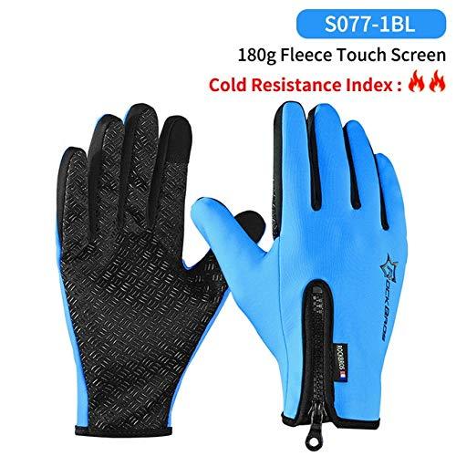 Guantes de Ciclismo con Pantalla táctil cálidos para el Invierno, a Prueba de Viento, cálidos Guantes de Ciclismo de Dedo Completo Guantes de Ciclismo Antideslizantes para Hombres y Mujeres-a5-XL