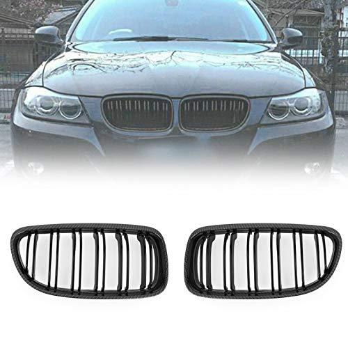 Topteng - Griglia anteriore in fibra di carbonio per BMW E90/E91 LCI 3 serie 2008-2012