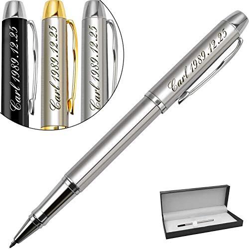Penne personalizzate-regalo personalizzato con il tuo nome logo o slogan per compleanno, festa-Inchiostro nero e 0,7 mm