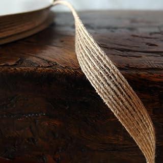 Burlap Ribbon, 3/8 inch x 25 yards, Rustic, Vintage, Wedding