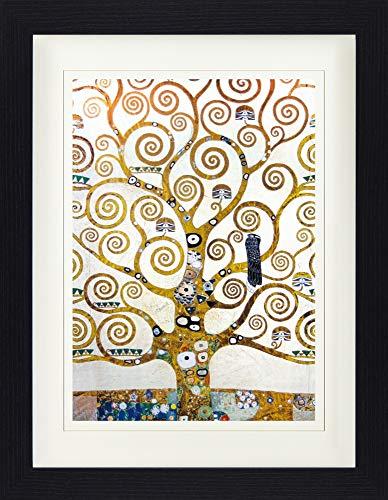 1art1 Gustav Klimt - Der Lebensbaum (Detail) Gerahmtes Bild Mit Edlem Passepartout   Wand-Bilder   Kunstdruck Poster Im Bilderrahmen 40 x 30 cm