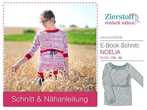 Zierstoff einfach nähen Schnittmuster, Schwangerschafts-/ Stillpullover Noelia, Gr. 158 bis Damengr. 46 - digital