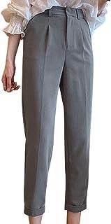 [ニーマンバイ] アンクル テーパード パンツ きれいめ センタープレス 美脚 スラックス 9分丈 オフィス レディース S~2XL
