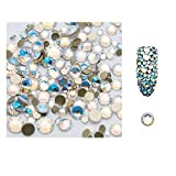 S.A.V.I 5g/Pack Ab Glass Rhinestones Stones Shiny Gems Manicure Accessories Gold Flatback Mixed Sizes For Nail Art Decoration (Star Blue), Multicolor, 2 g