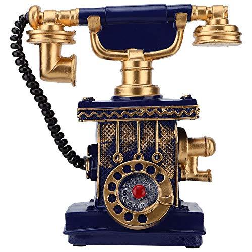 Antieke telefoon vintage retro telefoon Blue Money Box ornament voor huis decoratie