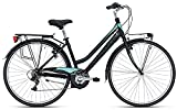 Bottecchia 200 - Bicicleta de mujer Shimano 6 V, color negro y verde mate