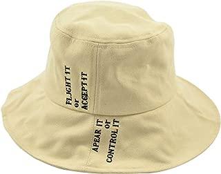 Hats Visor Men and Women Hat Fisherman's Hat Letter Big Along The Men's Wild Japanese Basin Cap Fashion (Color : Off-White, Size : M (56-58cm))