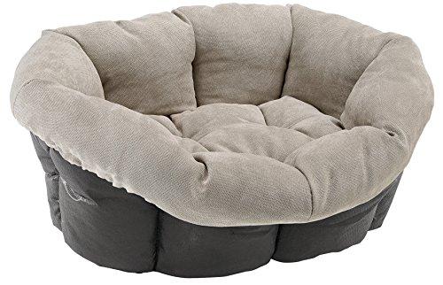 Ferplast Sofa Prestige 6Kissen Bett für Hunde und Katzen Bezug/Synthetik Stoff, 73x 55x 27cm, Burgund