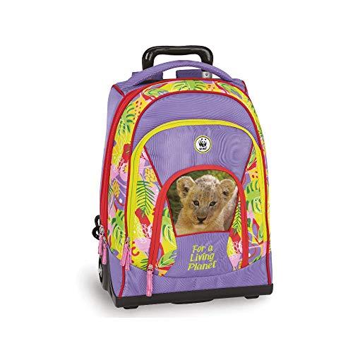 Zaino trolley WWF girl jungle 60346 scuola collezione 2019/2020