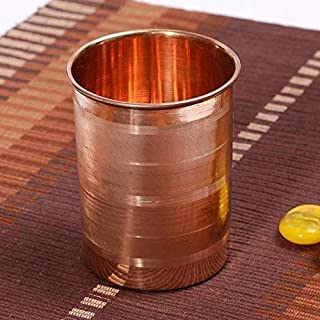 Royal sapphire Pure Copper (99.74%) | Traveller's Copper Mug for Serving Water | For Ayurveda Health Benefits (10.8 US Flu...