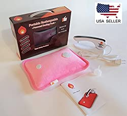 Hot Shot Portable Heating Pad in Pink