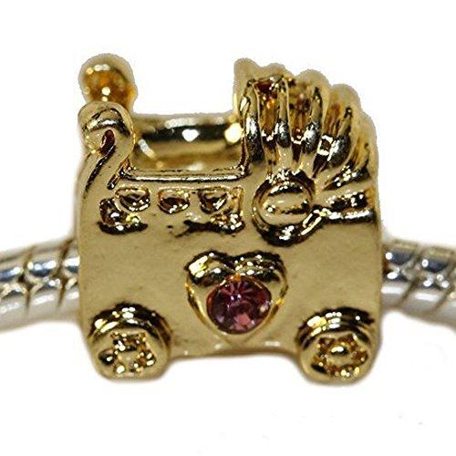 Sexy Sparkles Damen-Baby Buggy Charm Bead für Schlange Kette Armbänder