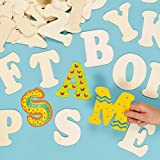Baker Ross Große Buchstaben aus Holz zum Basteln und Bemalen für Kinder - ideal für Schriftzüge...