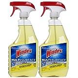 Windex Antibacterial Multi-Surface Cleaner, 26 Fl Oz Spray Bottle, Pack of 2