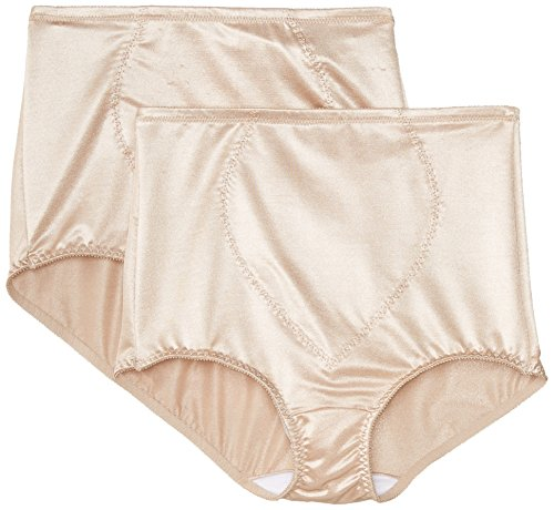 Bali Tummy Panel Brief Firm Control 2-Pack Nude