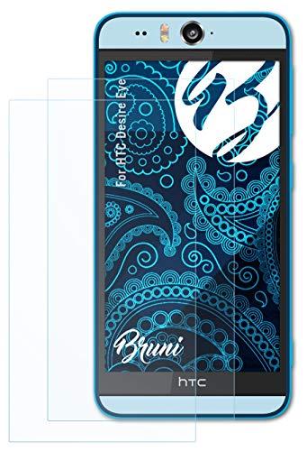 Bruni Schutzfolie kompatibel mit HTC Desire Eye Folie, glasklare Bildschirmschutzfolie (2X)
