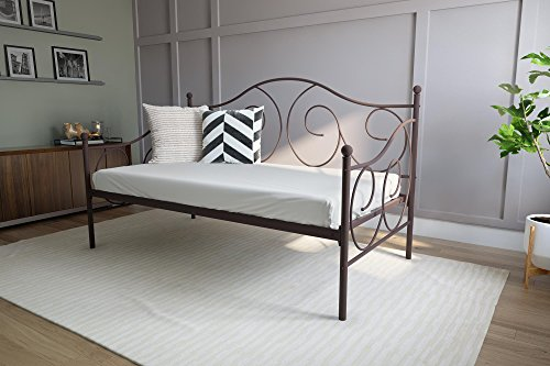 DHP Victoria Daybed, Twin Size Metal Frame, Multi-functional Furniture, Bronze