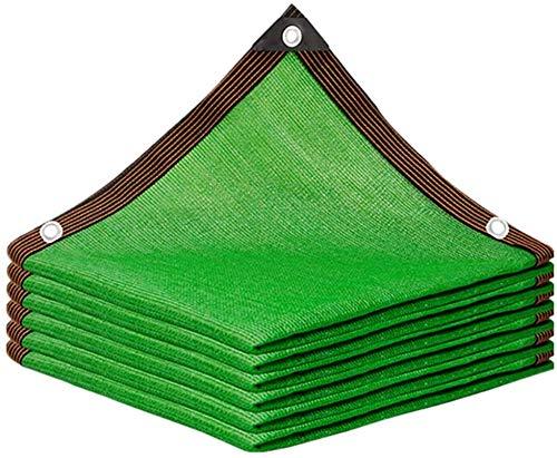 Toldo Vela de Sombra Sombra Paño 90% Tela De Sombra con Ojales para Cubierta De Plantas, Patio, Jardín Sombra Solar Malla de Sombra (Color : Green, Talla : 5x8m)