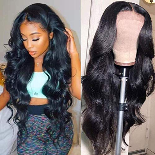 Beaudiva Lace Front Wigs Human Hair Body Wave Lace Front Human Hair Wigs 20inch 4×4 Lace Closure Wigs with Baby Hair Pre Plucked Bleached Knots Remy Brazilian Lace Wigs for Black Women Natural Color