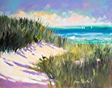 Posterazzi Collection Seagrass Shore Poster Print by Jane Slivka (14 x 11)